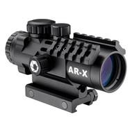AR-X 3x32mm. Illuminated Red/Green AR-X Mil-Dot, Matte Black