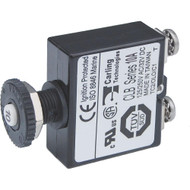 Blue Sea Push Button Reset Only Screw Terminal Circuit Breaker - 10 Amps