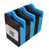 5 Pistol Soft Cradle Holder, Black/Blue