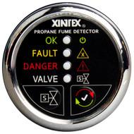 Xintex Propane Fume Detector w/Automatic Shut-Off & Plastic Sensor - No Solenoid Valve - Chrome Bezel Display