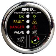 Xintex Xintex Propane Fume Detector w/Plastic Sensor & Solenoid Valve - Chrome Bezel Display