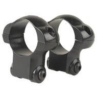 Aluminum Ring Pair - Ruger 77, 30mm, High, Matte Black