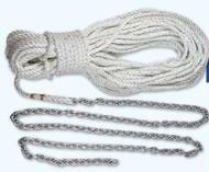 """Lewmar 5' 1/4"""""""" G4 Chain W/100' 1/2"""""""" Rope"""