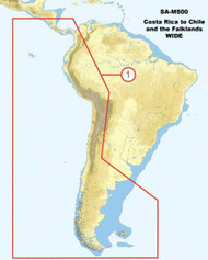 C-MAP SA-M500 Max Wide SD Costa Rica - Chile - Falklands