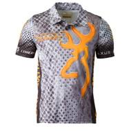 Team Browning Shooting Polo Shirt - Gray, Large