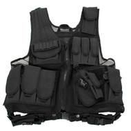 Black Deluxe Tactical Vest Standard