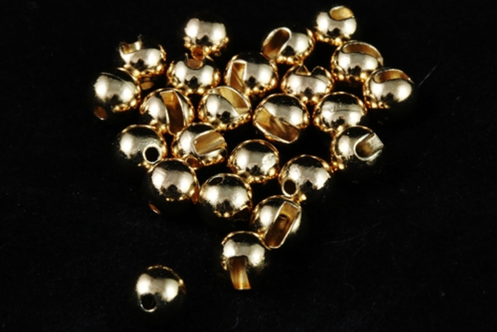 Tactical Fly Fisher Slotted Tungsten Beads 50 pack Silver, Gold, Copper, and Black Nickel
