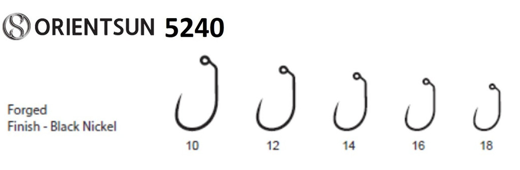 Orientsun 5240 Barbless Wide Gap Jig Nymph Hook