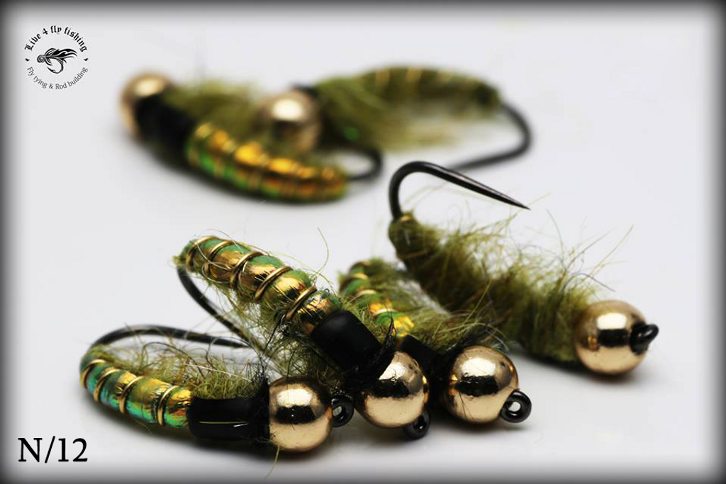 Flashback olive Czech nymph
