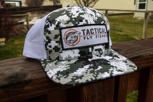 Tactical Fly Fisher B&W digital camo trucker hat