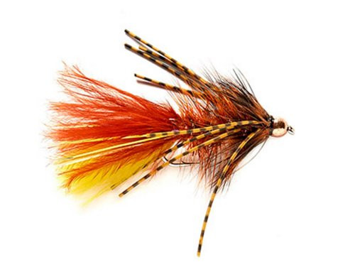 Tungsten Rubber Legged Bugger (Brown and Yellow)