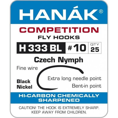 Hanak 333 Czech nymph/scud hook
