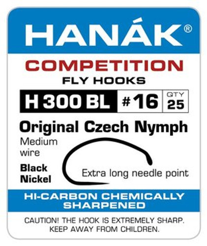 Hanak H300 BL original Czech nymph hook