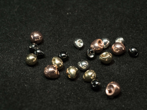Tactical Fly Fisher inverting tungsten beads. 50 pack gold, silver, copper, black nickel