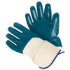 "Memphis 97960L Predator Nitrile, Palm Coated, 2.5"" Safety Cuff, Size Large (12 Pair)"