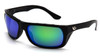 Venture Gear VGSB931 Vallejo Safety Glasses Black Frame w/Polarized Green Mirror Lens (1 Pair)