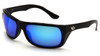 Venture Gear VGSB965T Vallejo Safety Glasses Black Frame with Ice Blue Mirror Anti-Fog Lens (1 Pair)