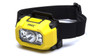 Pyramex HL100 Black/Yellow Intrinsically Safe High Power LED Headlamp for Hard Hats, (1 Each)