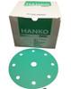 "Hanko Festool-Ready 6"", 9-Hole Green Film Sanding Discs Hook & Loop 120G (100 Per Box)"
