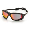 Pyramex SBG5055DT Highlander Plus Safety Glasses, Frame: Black-Gray, Lens: Sky Red Mirror Anti-Fog (12 Pair)
