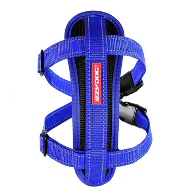 Blue - EzyDog Chest Plate Dog Harness