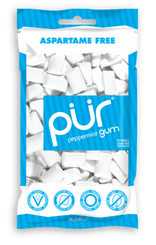 PUR Peppermint Gum 80g Bag