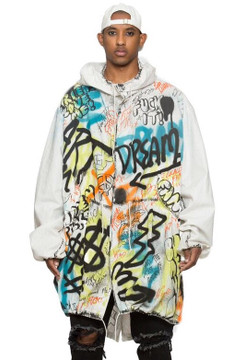 Oversized Graffiti Parka