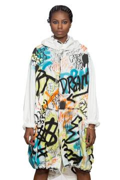Graffiti Parka (Oversized)