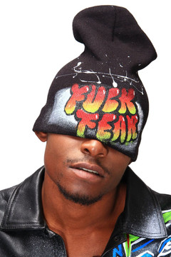'FUCK FEAR' GRAFFITI HAT (MENS)
