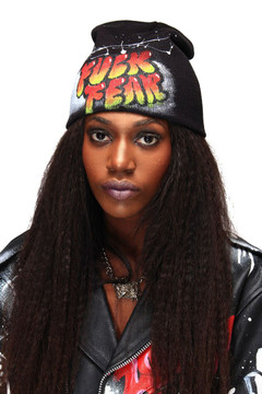 'FUCK FEAR' GRAFFITI HAT (WOMENS)
