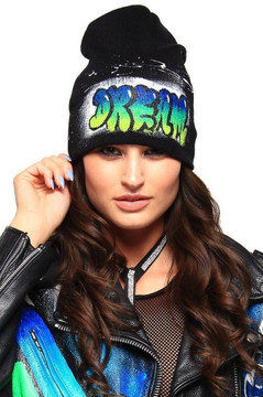 'DREAM' GRAFFITI HAT (WOMENS)