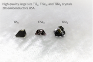 TiSe2 crystals - Large size high purity TiSe2 layered crystals - 2Dsemiconductors USA