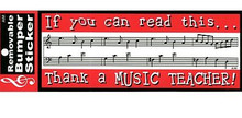 Bumper Sticker Thank A Music Teacher