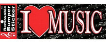Bumper Sticker I Heart Music