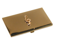 Business Card Holder G-Clef Gold
