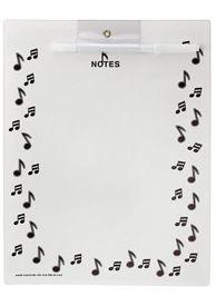 Wipe off board-Black Notes