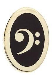 Mini Pin Bass Clef (Oval)