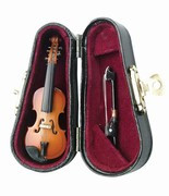 Miniature Violin Replica W/Case