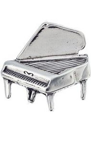 Charm/Pendant Sterling Silver Grand Piano