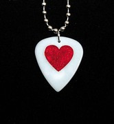 Necklace -Guitar Pick Lovely Hearts
