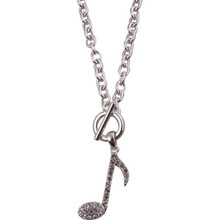 Necklace Toggle Note Silver