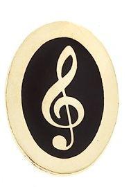 Mini Pin G-Clef Oval