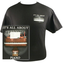 T-Shirt It's All About Piano Black -Medium