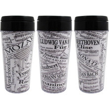 Travel Tumbler 16oz Sheet Music Collage
