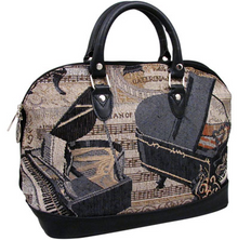 Ladies Handbag Piano Tapestry Full zip Style