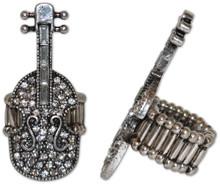 Ring Stretch Violin Crystal