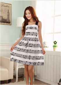 Sheet Music Black Strap A-Line Dress- Small, Medium Large
