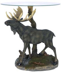 Realistic Moose Tree End Table