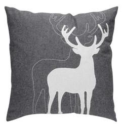 Grey Deer Pillow