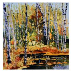 Autumn fall canvas wall print